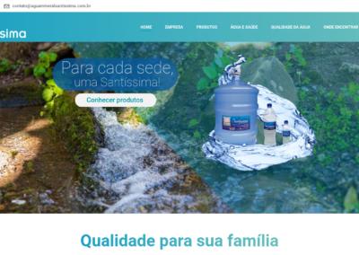Site Água Mineral Santíssima